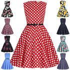Vintage Style 50's Floral Sleeveless Kids Children Party Cocktail Girls Dress