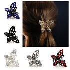 Hair Clip Butterfly Claw Clamp with Diamante Rhinestone AB Sparkly Vintage Look