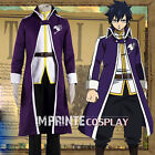 Fairy Tail Gray Fullbuster The Grand Magic Game Cosplay Costume Full Set FREE PP