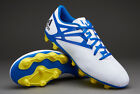 Mens Adidas Messi 15.4 FxG White Blue Moulded Studs Soccer Football Boots 6-12