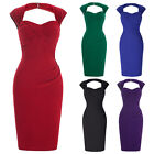 Vintage Style Women Bandage Slim Sleeveless Knee Length Bodycon Cocktail Dress