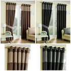 Hilton Faux Silk Lined Ring Top Pair Curtains With Luxury Chenille Top Border