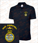 HMS Churchill Embroidered Polo Shirts