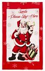 Retro Santa Towels, 100% Cotton, Xmas Designer Soft Velour Towel