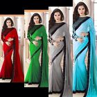 Ladies Indian Bollywood Georgette Ready Made Saree Designer Sari Party Wedding