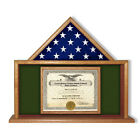 Army Flag Certificate Display Case, Flag Case Hand Made B...