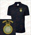 HMS YORK Embroidered Polo Shirts