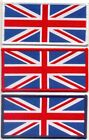 WOVEN UNION JACK PATCH SMALL 80mm x 40mm Sew on & Iron On