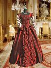 Renaissance Costume Medieval Style Pear Ornamented Dress Gown Clothing