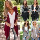 Boho Women's Long Sleeve Knitted Cardigan Loose Sweater Outwear Jacket Coat Tops