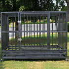 "37"" 48"" Heavy Duty Strong Metal Pet Dog Cage Crate Kannel Playpen w /Wheels&Tray"