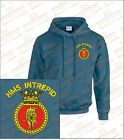 HMS INTREPID Crested Hooded Sweatshirts