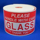 """Please Handle With Care Glass Thank You 3""""x5"""" - Packing Shipping Labels A"""