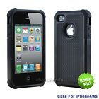 iphone 4 silicone case - 2 Colors Silicone Gel Rubber Combo Hard Soft Cover Case Skins For iPhone 4 4S