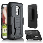 Shockproof Rugged Hybrid Armor Case Cover With Stand Belt Clip For LG HTC Sony