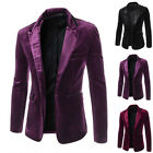 Men's Fashion Casual Laple Thin Blazer Coat Tops Business Party Jacket Outwear