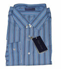 Ralph Lauren Purple Label Mens Blue White Striped Button Down Sport Dress Shirt