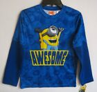NEW W/T DESPICABLE ME BOYS BLUE LONG SLEEVE SHIRT 4/5, 6/7, 8, 14/16