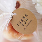 100pcs Brown Kraft Paper Tags DIY Round Food Labels Wedding Party Gift Cards