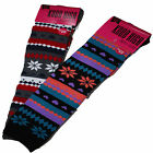 Womens Ladies Knee High Socks Winter Warm Cotton Rich Socks Fairisle