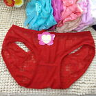GB 1PC Sexy Lace Women Lady Hollow Bowknot Lingerie Underwear Panties Knickers