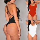 Sexy Women Sleeveless Swimwear Ladies Bodysuit Leotard Top Backless Jumpsuit UK