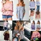 Best Women Vogue Sexy Off Shoulder Casual Long Sleeve Slim T-Shirt Tops Blouse