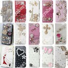 Luxury Bling Case Cover Crystal Diamond Rhinestone PU Leather Skins For OPPO