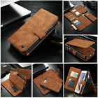 Genuine Leather Purse Wallet Case Magnetic For Sumsung S8 Plus Note 7 Huawei P10
