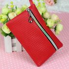 Womens Mens Card Holder Wallet Coin Purse Clutch Zipper Leather Mini Change Bag