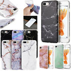For Apple iPhone 7 & 7 PLUS TPU CANDY Gel Flexi Skin Case Phone Cover Marble