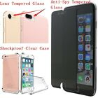Anti-Spy Tempered Glass+Lens Tempered Glass+ShockProof Case For iPhone 7/7 Plus