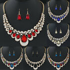 Fashion Beauty Women's Drop Earrings Pendant Dangle Hook Rhinestone Jewelry Set