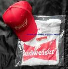 Budweiser Beer Bar Promo (3 pc) Item Lot Hat, Opener Keychain, & Large T-Shirt