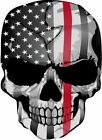Punisher American Flag Firefigther- Thin Red Line - Various sizes Free Ship
