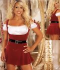 Christmas Red Stretch Velvet Dress with Sexy Satin Top Removeable Belt Santa