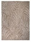 100% Wool Woollen Rug with Woven Backing Beige Light Brown Coral Subtle Pattern