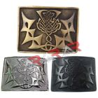 Scottish kilt Belt Buckle Celtic Knot Design Antique/Chrome/Jet Black Finish