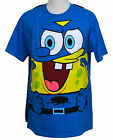 SpongeBob SquarePants T-shirt with Cape Nicelodeon Graphic Tee Cotton Blue M NWT