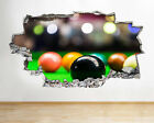 H467 Snooker Table Balls Sports Smashed Wall Decal 3D Art Stickers Vinyl Room $44.14 USD on eBay