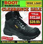 Wide Load Safety Work Boots, 'PRIME MOVER PLUS' (PMP1). Extra Wide. Lace Ups