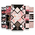 HEAD CASE DESIGNS BLACK & PINK SOFT GEL CASE FOR SONY PHONES 1
