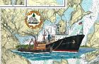 TS State of Maine Art Print Maritime Academy Castine Tugboat  Pentagoet Ship Sea