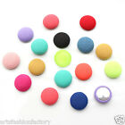 15mm Pure Fabric Cloth Covered Back Button for Sewing headband Jewelry Crafting