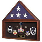 Large Flag and Memorabilia Display Cases Hand Made By Veterans