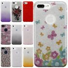 For Apple iPhone 7 & 7 PLUS SHINE HYBRID HARD Case Rubber Cover +Screen Guard