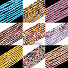 Natural Gemstones 2mm 3mm 4mm Faceted Round Spacer Seed Beads 15.5'' Jewelry DIY