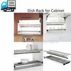 2 Tier Dish Drain Rack 304 Stainless Steel for Kitchen Cabinet Plate Bowl