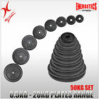 TOTAL 50KG CAST IRON WEIGHT PLATE SET - ENERGETICS WEIGHT PLATES SET