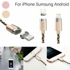 2.4A Micro USB Charging Cable Magnetic Adapter Charger for  iPhone Samsung / LG